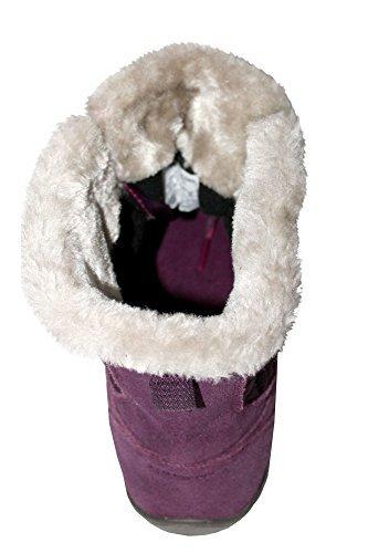 Columbia Womens Powder Summit Shorty Waterproof Boots Insulated Bootie (9, Purple Dahlia/deep Blush)