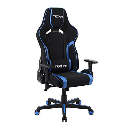 TECHNI SPORT Gaming Chair Collection - Techni Sport TSF-71 Fabric Office-PC Gaming Chair Blue - Gaming Chair - High Chair - (TS71, Blue) Uncategorized