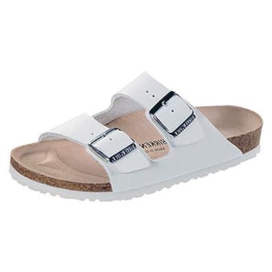 119406638721 Birkenstock - Arizona Leather - Size 38 - white  Amazon.co.uk  Shoes   Bags