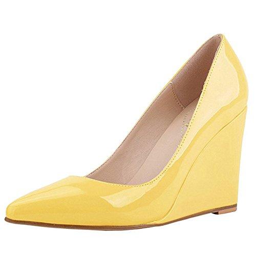 EKS - Zapatos de vestir para mujer 46 amarillo