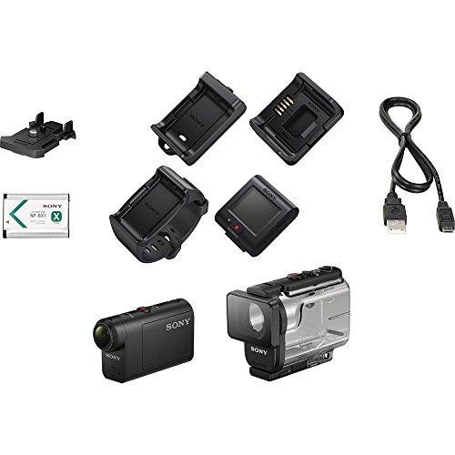 Full HD Action Cam + Live View Remote (Black) - SONY HDRAS50R/B