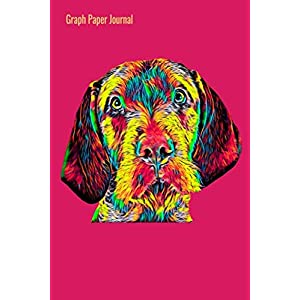 Graph Paper Journal: 140 Squared Pages for Journaling Ideas or Keeping a Diary Grid Interior Pink With Colorful Wirehaired Vizsla Cover Art, 6 x 9 inches (15 x 23 cm) 33