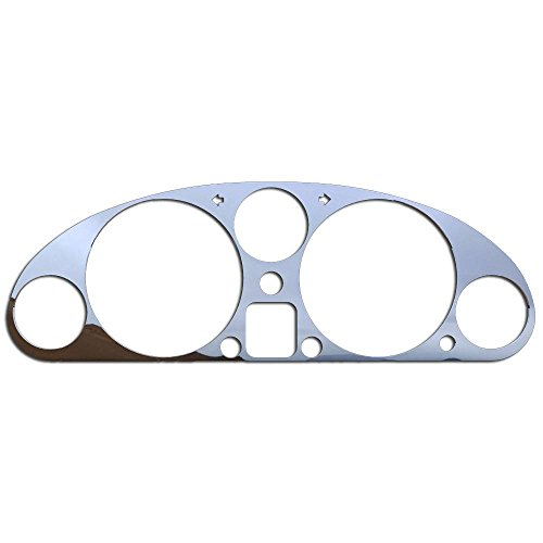 olished Stainless Gauge Cluster Dash Bezel Trim fits: 1990-1997 Mazda Miata With Factory Chrome Rings BZL-233-Chrome ()
