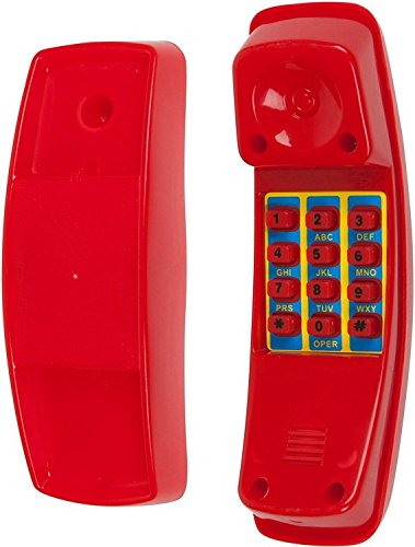 (Swing Set Stuff Telephone with SSS Logo Sticker, Red)