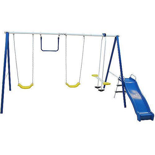 Flexible Flyer Swing Free Metal Swing Set