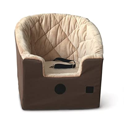 K&H Manufacturing Bucket Booster Pet Seat Large Tan 14.5-Inch by 24-Inch