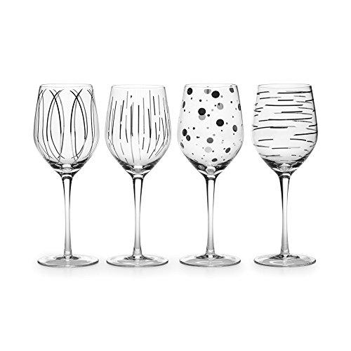 MIKASA Cheers Platinum 14oz Wine Glasses (set Of 4)