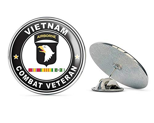 US Army 101st Airborne Division Vietnam Service Combat Veteran Metal 0.75