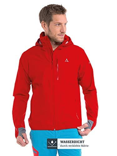 Schöffel Herren Jacket Toronto4 wind- und wasserdichte Herren Jacke mit verstaubarer Kapuze, atmungsaktive und verstaubare Hardshelljacke für Männer,