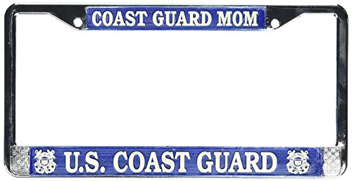 - U.S. Coast Guard MOM License Plate Frame (Chrome Metal)