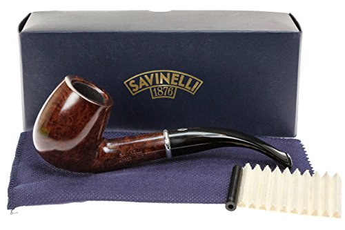 Savinelli Arcobaleno 606 Brown Tobacco Pipe - Smooth by Savinelli