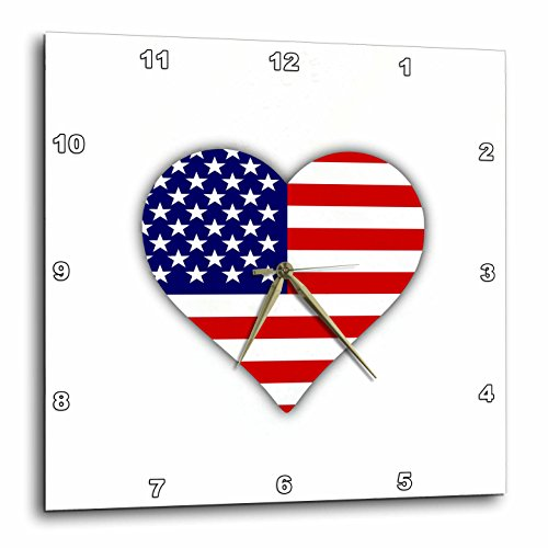 American Flag Heart I Love America Patriotic USA