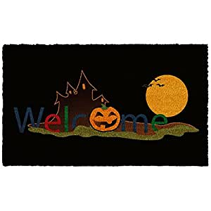 Halloween Welcome Doormat 17'' W x 29'' L by MAGE TWIN