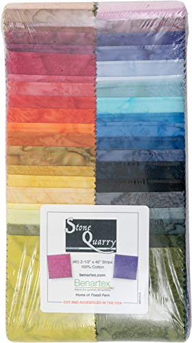 Stone Quarry Strip-Pies 40 2.5-inch Strips Jelly Roll Benartex, Assorted (Stone Strip)