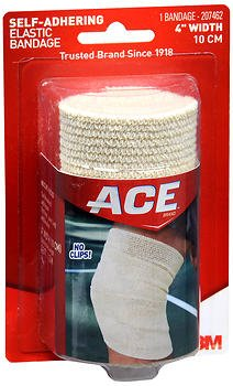 Ace Self-Adhering Elastic Bandage 4 Inch Width, Pack of 2
