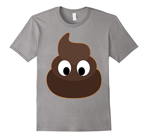 Poo Costumes (Mens Poop Costume T-Shirt, Funny Poo Shirt For Halloween XL Slate)