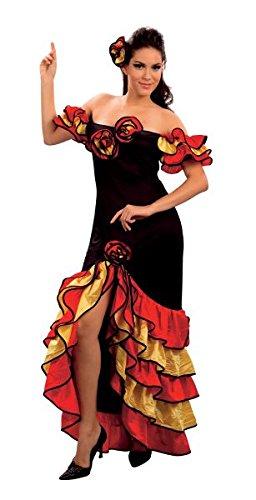 Bristol Novelty AC595 Rumba Woman Costume, UK Size 10-14