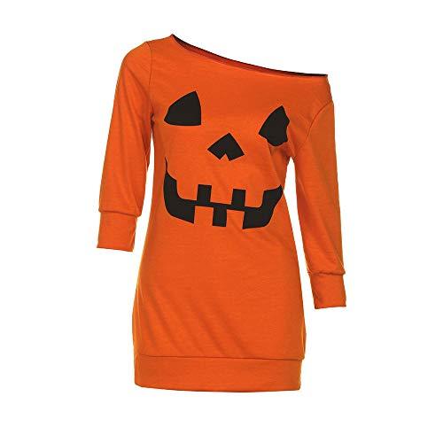 Holywin Orange Chemisier Femme Uni Manches Longues Blouson rxrzAwqf