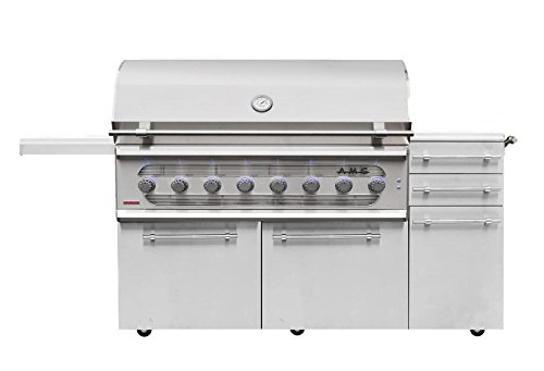 American Muscle Grill Freestanding Dual Fuel Wood/Charcoal / Gas Grill, 54-inch, -