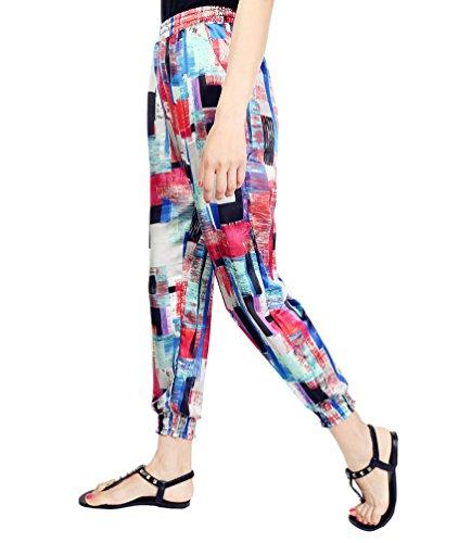WanYang Pantalones Deportivos Para Mujer Pantalones Harén Pantalones De Deporte Con Impresión Geometría