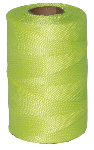 T.W Evans Cordage 11-185 Number-18 Twisted Nylon Mason Line with 550-Feet Tube, Fluorescent Yellow