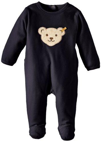 Steiff Unisex - Baby Bekleidungsset Strampler 0002892, Gr. 62, Blau (marine 3032)