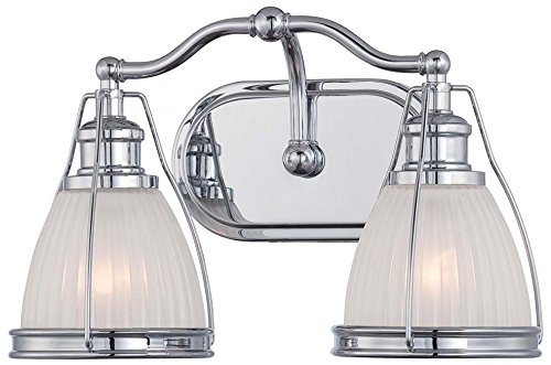 well-wreapped Minka Lavery 5792-77 Transitional 2 Light Bath Lighting, Chrome Finish