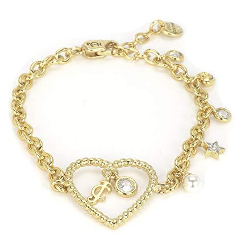 Juicy Couture Black Label Gold Crystal Charm School Bracelet - Juicy Bracelets Jewelry Couture Fashion