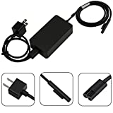 Surface Pro (2017) Surface Laptop Charger, 44W 15V 2.58A Portable Power Adapter for Microsoft Surface Pro 3 Pro 4 Pro 5 i5 i7 Tablet & Surface Book & Surface Laptop with 5V 1A USB Charging Port
