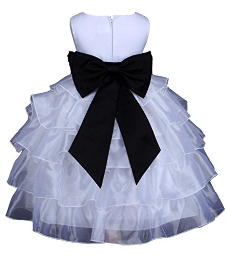 Tiered Satin Dress Black - 9