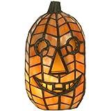 "Meyda Tiffany 68100 Jack O'Lantern Accent Lamp, 8.5"" H"