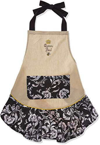 DII Queen Bee Embroidered Ruffle Apron, Multi