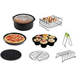 CAXXA XL Air Fryer Accessories Compatible with Gowise and Phillips, Deluxe Set of 8, Fit all 4.2QT - 6.8QT and UP