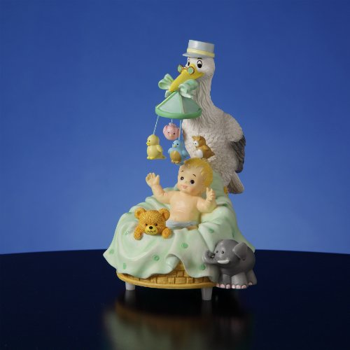 - Stork with Baby Musical Figurine by The San Francisco Music Box Company
