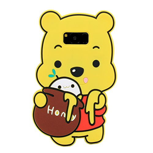 Galaxy S8 Case, MC Fashion Cute 3D Soft Protective Silicone Phone Case for Samsung Galaxy S8 2017 Release (Honey Winnie The Pooh)
