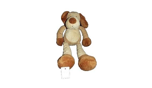 Kiabi - Doudou Nicotoy Kiabi perro larga pierna beige marrón 32 cms - 909: Amazon.es: Bebé