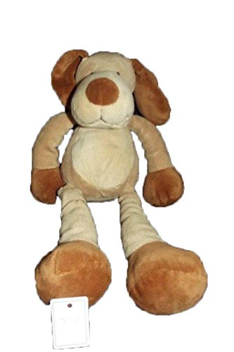 Kiabi – Doudou Nicotoy Kiabi perro larga pierna beige marrón 32 cms – 909