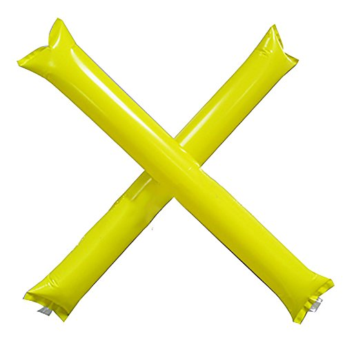 MMRM Inflatable Thunder Stick Bang Noise Maker Football Soccer Basketball Clapper Cheerleader Outfit - Yellow -