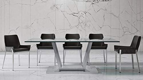 Zuri Modern Vilma 82 Inch Dining Table