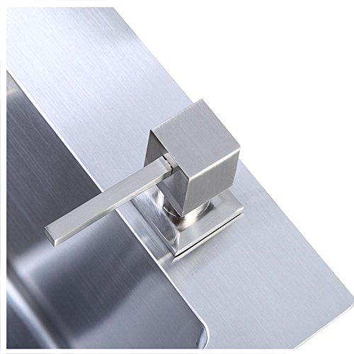 304 Stainless Steel Kitchen Sink Countertop Soap Dispenser Built in Hand Soap Dispenser Pump, Brushed Nickel (Stainless Countertops Steel Sinks)