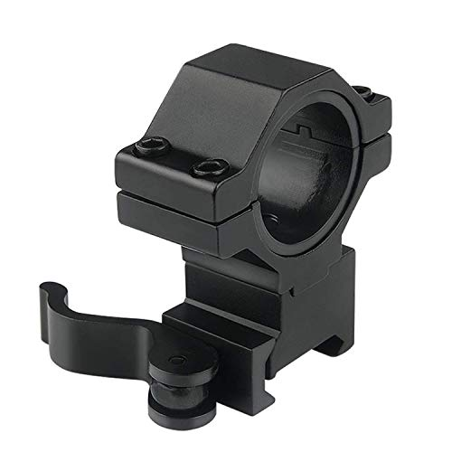 UniqueFire 30mm Quick Detach Picatinny Scope Mounting Rings, Convert 30mm Rings to 25.4mm Scope - Picatinny Mounting