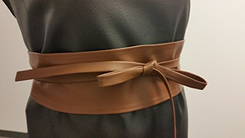 VIKTOR SABO Handmade OBI COFFEE Leather For Waistline Up To 36