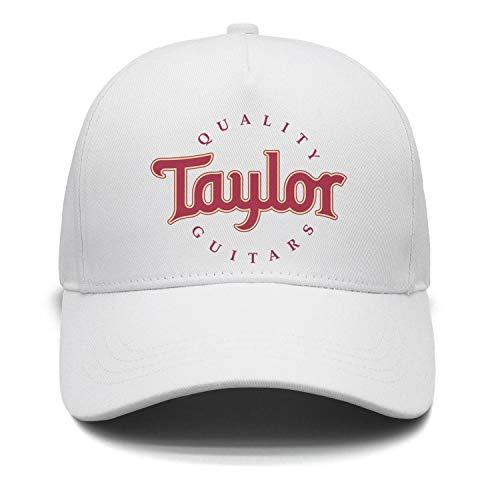 M.STRA Unisex White Baseball Hats for Mens Womens Cool Taylor-Guitars-Logo- Caps