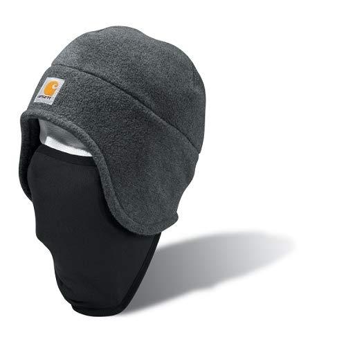 Carhartt Men's Fleece 2-In-1 Headwear,Charcoal Heather,One Size (Warm Hats For Men)