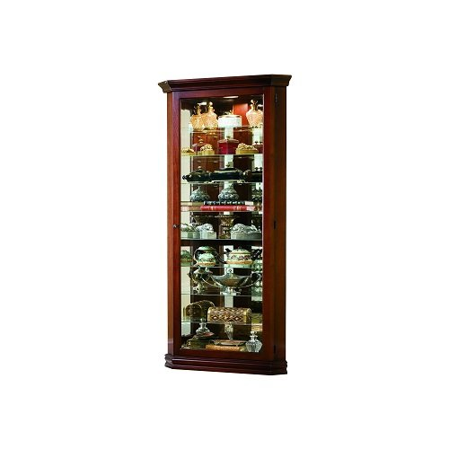 Pulaski Corner Curio, 27 by 16 by 80-Inch, Brown