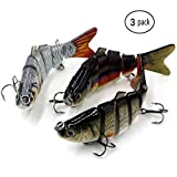 Fishing Lure Multi Jointed Lifelike Swimbait Lures Fishing for Freshwater and Seawater