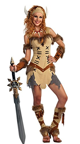[Rubie's Costume Co. Women's Viking Princess Costume, As Shown, Standard] (Viking Costume Boots)