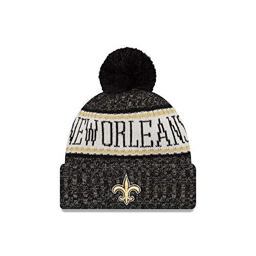 0c2b1ca48 New Orleans Saints Pom Hat. New Era New Orleans Saints NFL On Field 18  Sport Knit Beanie ...