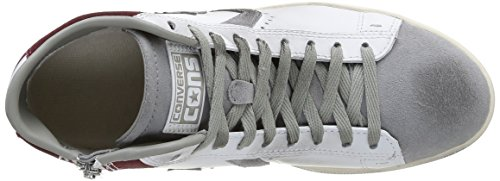 Converse Pro Leather Lp Mid Lth/Sue Z T Sneaker,Unisex Adulto White/Drizzle Grey
