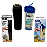 Travel Mug | Spill Proof Insulated Coffee Mug and Insulated Water Bottle that will not Tip Over | Economy Pack of Mighty Mug Travel Mugs | Patented Untippable Unspillable Cup Design